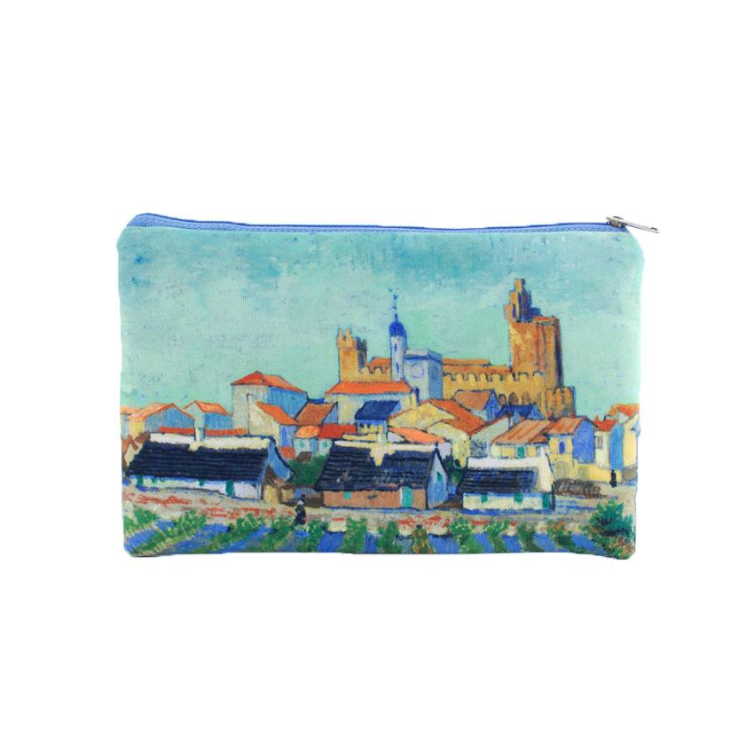 Etui Van Gogh Gezicht op Saintes-Maries-de-la-Mer