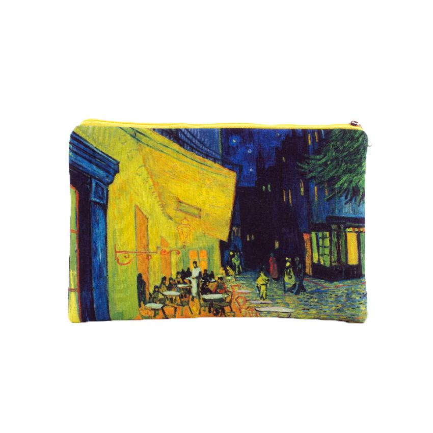 Pouch Van Gogh Terrace of a café at night