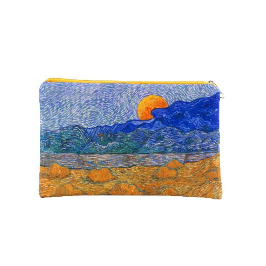 Etui Van Gogh Landschap met korenschelven en opkomende maan