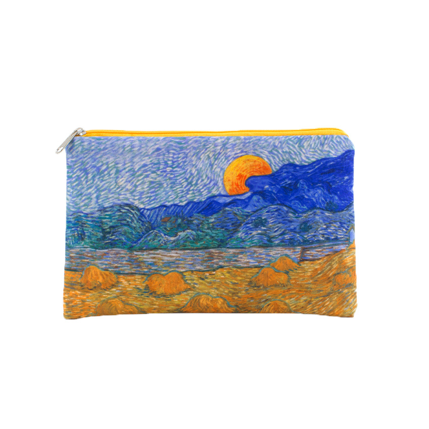 Pouch Van Gogh Landscape with wheat sheaves and rising moon