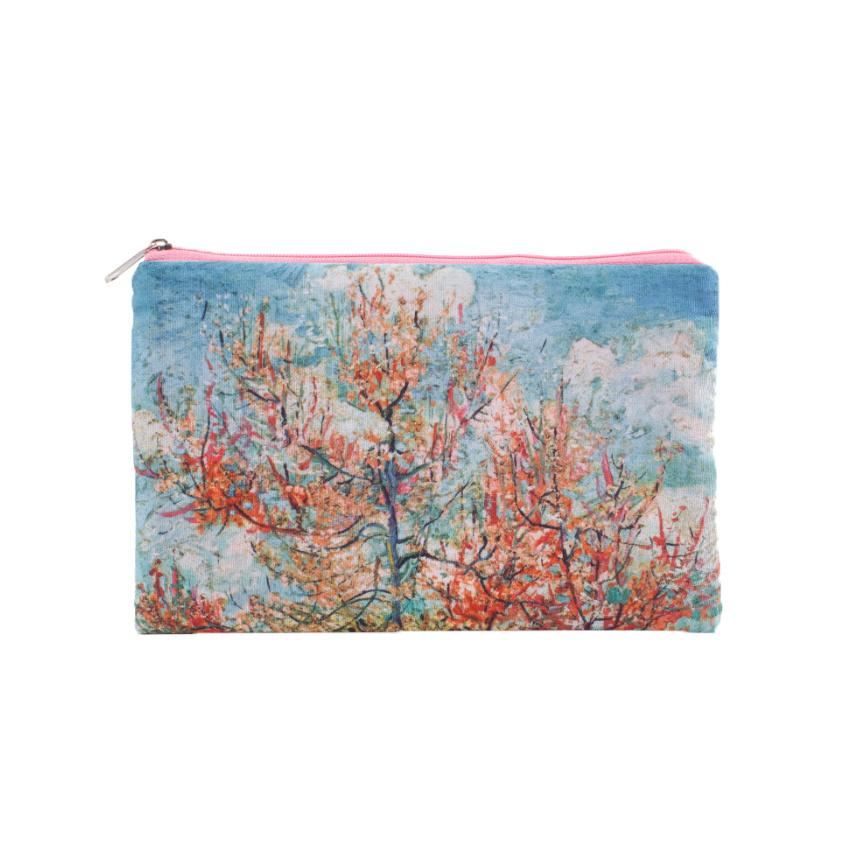 Pouch Van Gogh Pink peach trees