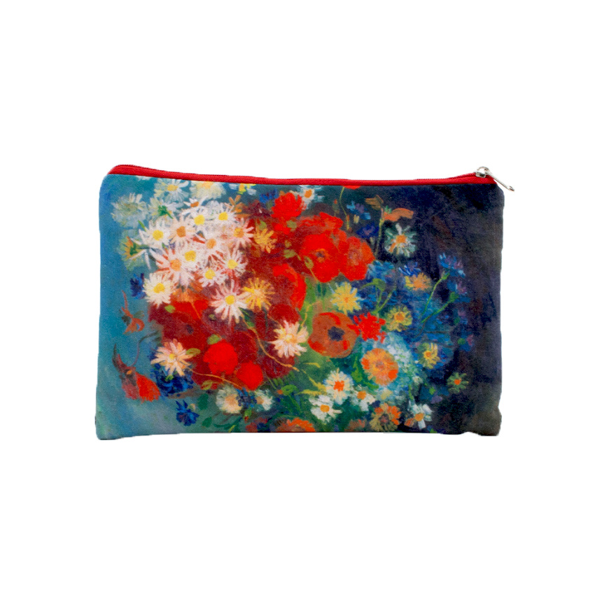 Pouch Van Gogh Still life with meadow flowers and roses