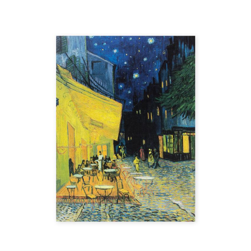 Artist journal Van Gogh Terrace of a café at night