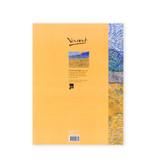 Schrift Van Gogh Landschap met korenschelven en opkomende maan