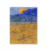 Artist journal Van Gogh Landscape with wheat sheaves and rising moon