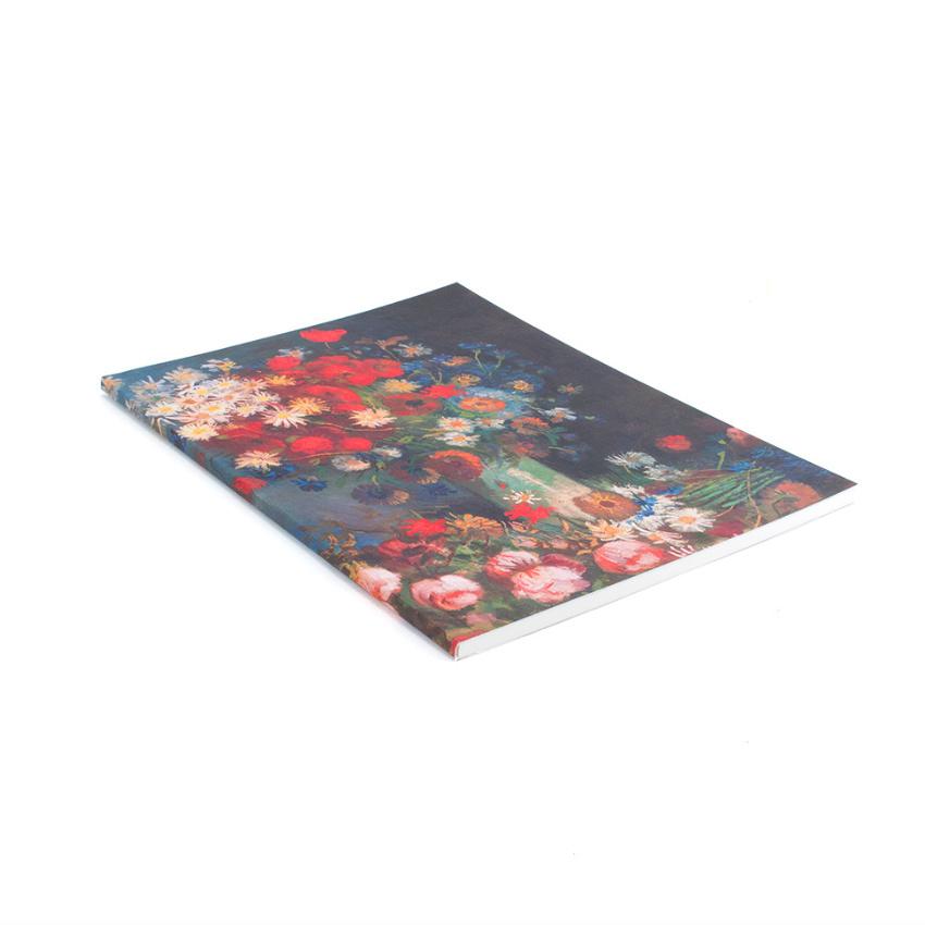 Schrift Van Gogh Stilleven met akkerbloemen en rozen