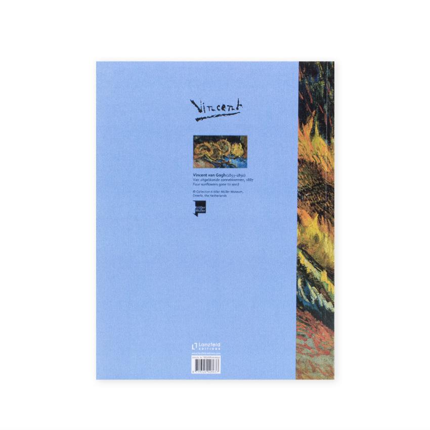 Schrift Van Gogh Vier uitgebloeide zonnebloemen