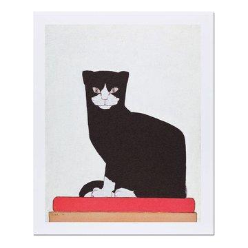 Reproductie 'De kat' - Bart van der Leck