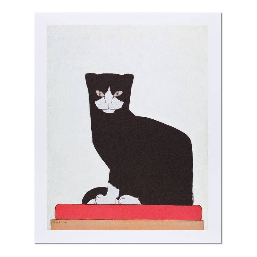 Reproductie Bart van der Leck De kat