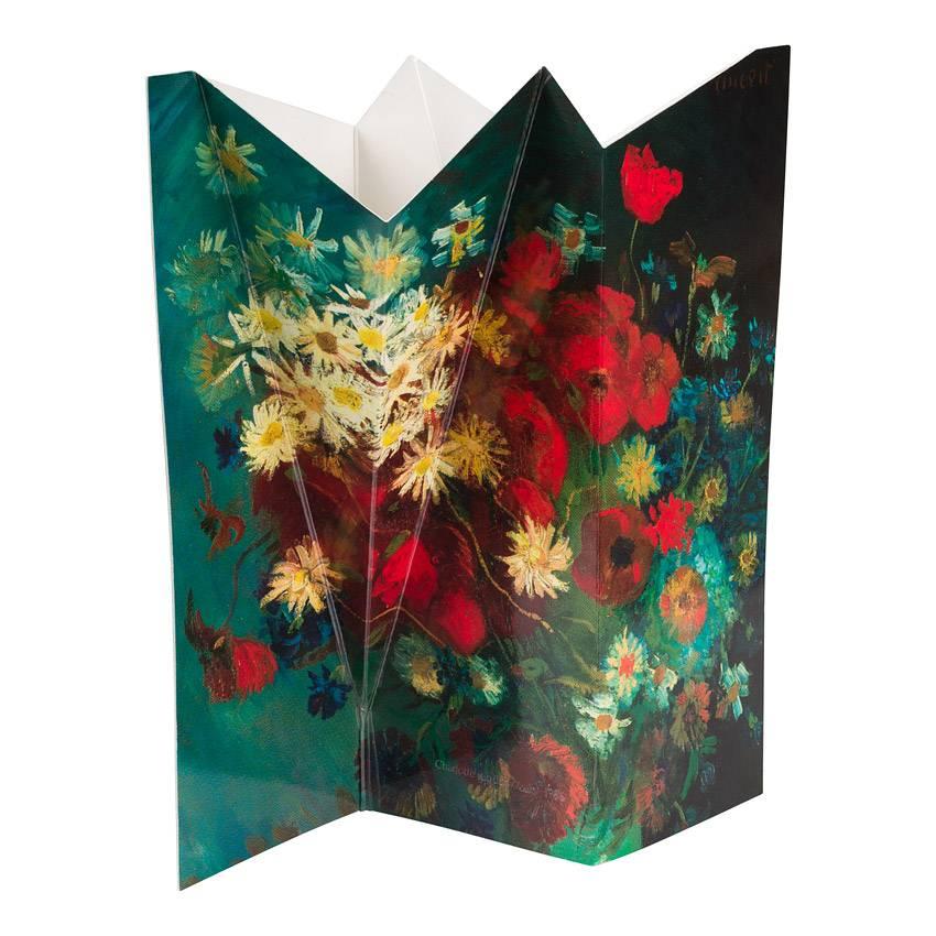 Bloemenvaas Van Gogh Stilleven met akkerbloemen en rozen