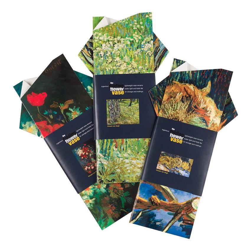 Bloemenvaas Van Gogh Vier uitgebloeide zonnebloemen