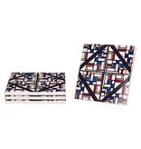 Ceramic coasters Theo van Doesburg Stained glass