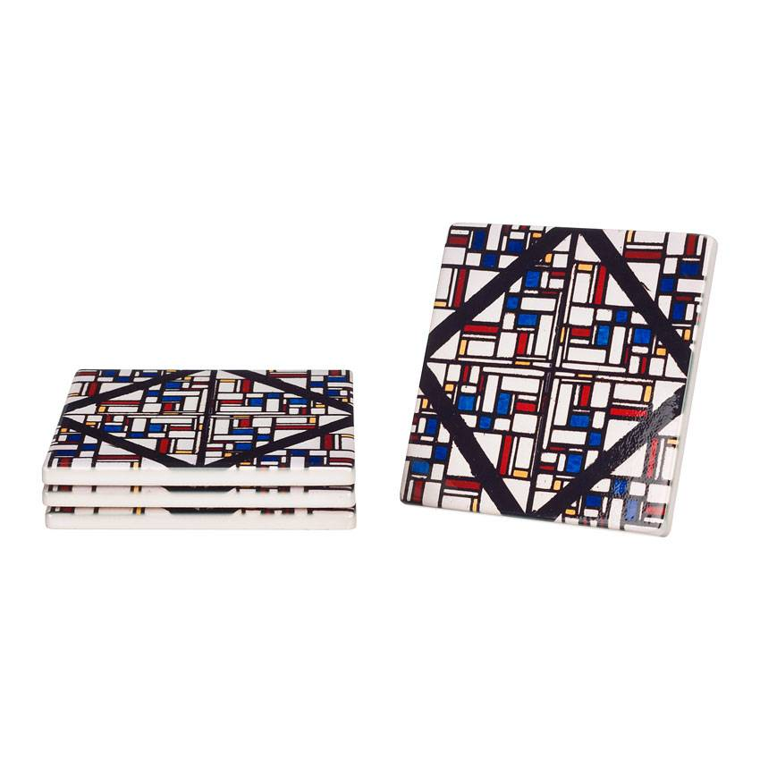 Ceramic coasters 'Stained glass' - Theo van Doesburg