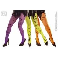 Halloweenaccessoires: Panty met vleermuizen in 3 kleuren