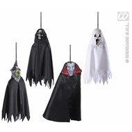 Halloweenaccessoires hangende enge figuren in 3 soorten 12cm