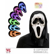 Halloweenaccessoires masker geest meerkleurig lichtgevend (LED)