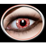 Halloweenaccessoires: Contactlens bloeddoorlopen oog