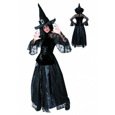 Heksen jurk Christine voor Halloween