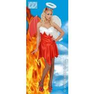 Halloweenkleding engel-duiveltje