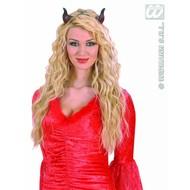Halloweenaccessoires duivelshoorn met elastiek