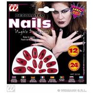 Halloween accessoires nagels met print verpakt per 12