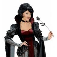Halloweenaccessoires: Zwarte roos