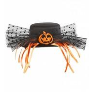 Halloweenaccessoires mini hoge hoed pompoen