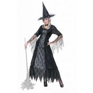 Halloweenkleding heks spinneweb