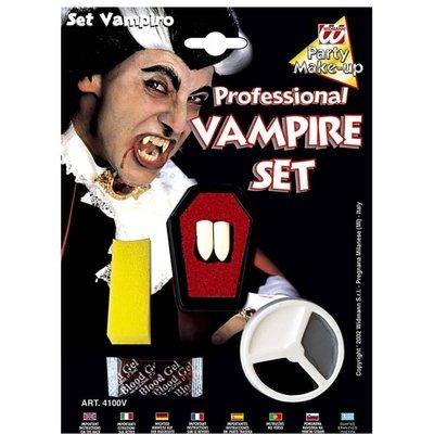 Halloweenaccessoires dracula make-up set