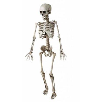 Kinder skelet als Halloween horror decoratie