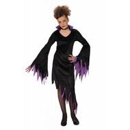 Halloweenkleding dark mistress fluweel kind