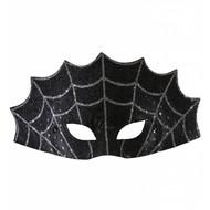 Halloweenaccessoires oogmasker spinneweb