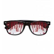 Halloweenaccessoires bloederige bril