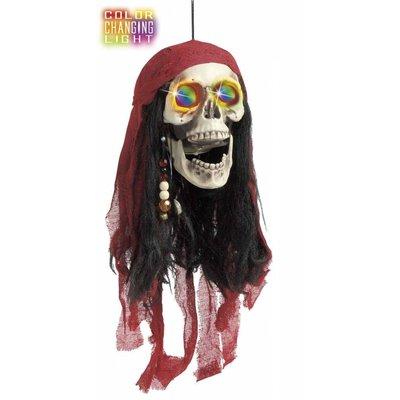 Piratenschedel met verlichte ogen voor Halloween