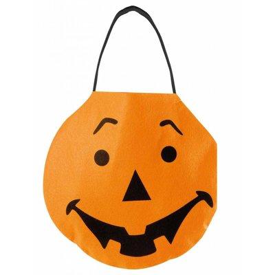 Halloweenaccessoires handtasje viltpompoen