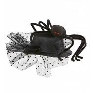 Halloweenaccessoires mini hoge hoed met spin