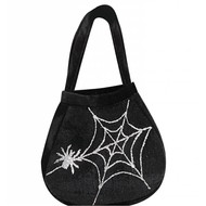 Halloweenaccessoires: Heksen handtas met spinnen
