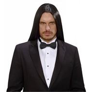 Halloweenpruik droomhaar Victor zwart