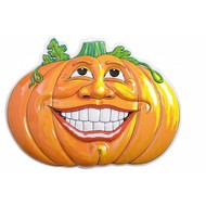 Halloweenaccessoires wanddecoratie lachende pompoen