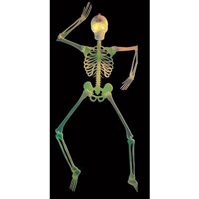 Halloweenaccessoires 3d skelet decoratie met knipperende ogen