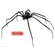 Halloweenaccessoires buigbare zwarte spin 110cm