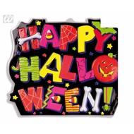Halloweenaccessoires wanddecoratie happy halloween