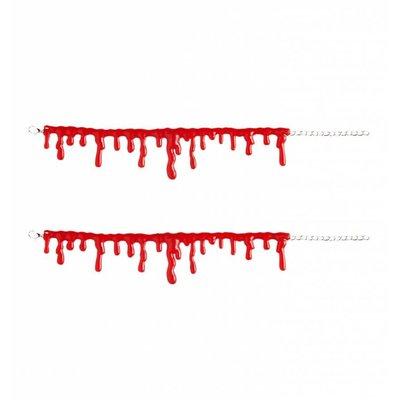Halloweenaccessoires armband bloeddruppels