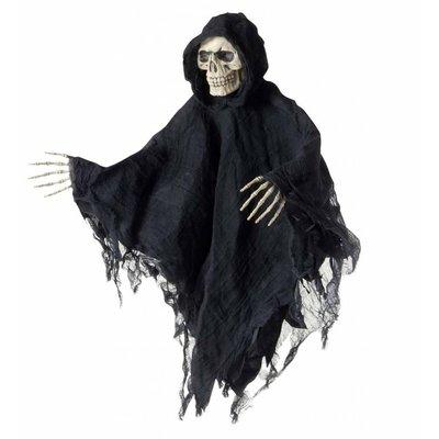 Schedel met gewaad en handen als Halloween decoratie