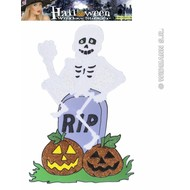 Halloweenaccessoires:Raamsticker Spook (38 cm)