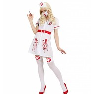 Halloweenkostuum zieke bloederige verpleegster