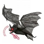 Halloweenaccessoires luxe vleermuis met bewegende vleugelslicht en geluid