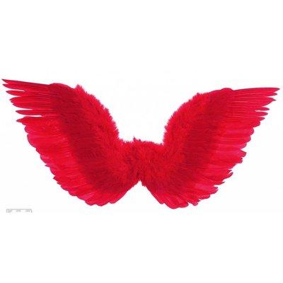 Rode gevederde duivels vleugels voor Halloween