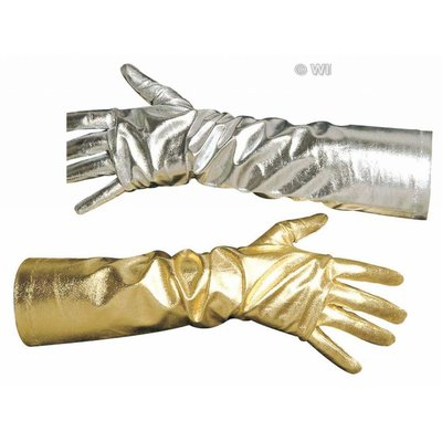 Halloweenaccessoires handschoenen dame goud of zilver
