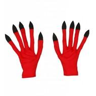 Halloweenaccessoires handschoenen duivel